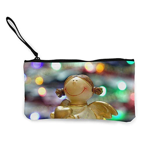 Yuanmeiju Engel Figur Weihnachtsschmuck Nette Leinwand Wechsel Münze Brieftasche Tasche Beutel Reißverschluss Halter Geldbörse Handgelenk Riemen Make-up Bleistift Fall Customized