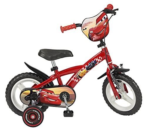 TOIMS - Bicicletta da 12' (30,48 cm), Motivo Cars, per Bambini di 3-4 Anni