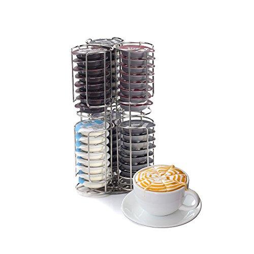 World Quality 48 cápsulas de café T-Disc dispensador de cápsulas de Acero Inoxidable para Tassimo Bosch