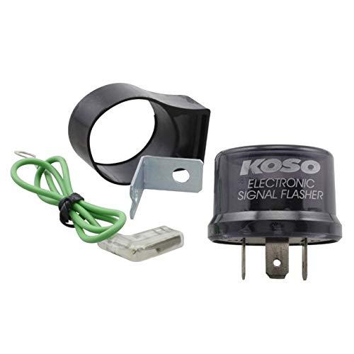 Blinker Relais/Blinkerrelais KOSO Digital, 12V, Stecker mit 3 Pins, inkl. Adapter auf 2 Pins, max. 15A, Relai