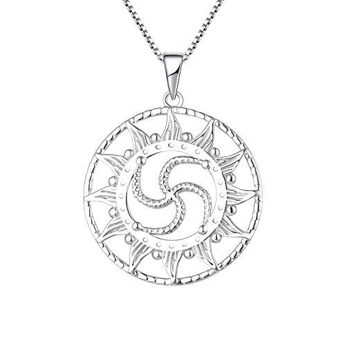 JO WISDOM Slave Sol Colgante Amuleto Collar para Mujer Plata 925