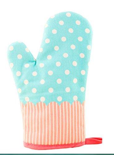 Dbtxwd Gants de four à micro-ondes de haute température de cuisson gants isolant anti-dérapants épaississement allongé cuisine (pack de 2) , 6