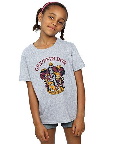 Harry Potter Mädchen Gryffindor Crest T-Shirt Sport Grau 9-11 Years