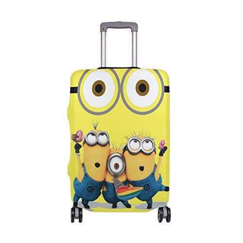 Minions Despicable Me Big Eyes Travel Luggage Cover Suitcase Protector Fits 22-24 Inch Washable Baggage Covers