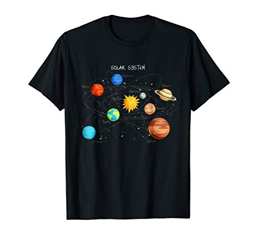 Solar System Planets T Shirt Sun, Space and Science Tee