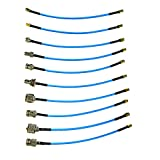 RTL-SDR Blog SMA Male to SMA, BNC, Type N, Type F, UHF M+F RG402 20cm 10pc Pigtail Adapters Kit