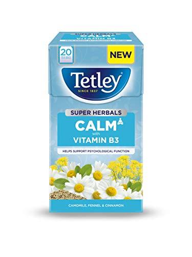 Tetley Super Herbal Calm 20 Tea Bags Per Box (4 Boxes), 4626A