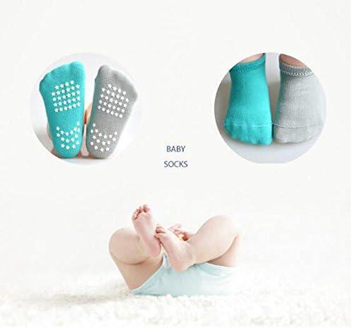 Toddler Socks Anti Skid Slip Socks Grip Socks For Toddler and Infants With 6 Packs