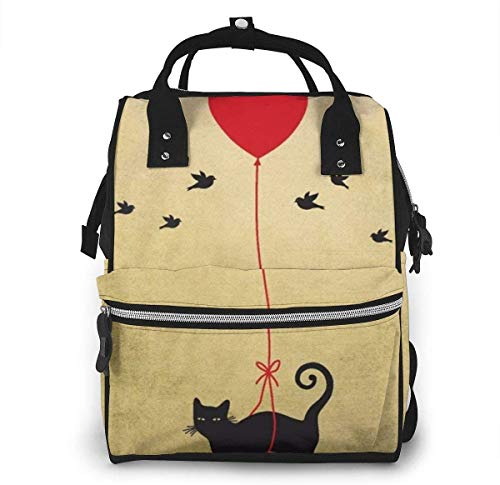 Diaper Bag Backpack Travel Bag Large Multifunction Waterproof Suppliesfunny Crazy Cat Stylish and Durable Nappy Bag for Baby Care School Backpack