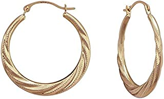 fair trade gold hoop earrings