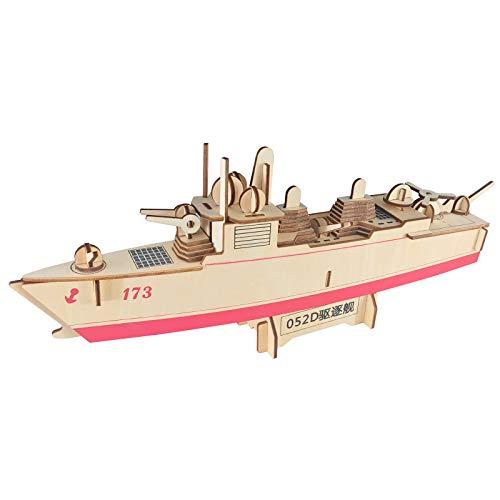 KTYRONE 3D Puzzle de Madera Modelos de Barcos Kits de Construcción Regalo para Adultos y niños (Destructor 052D)