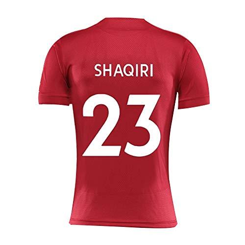 JYF Shaqiri # 23 Fußball-Shirt Rundhals Breath Erwachsene Kinder-Sport-T-Shirt 2019-2020 Shortsleeved Trainingsanzug (Color : Red, Size : 160)