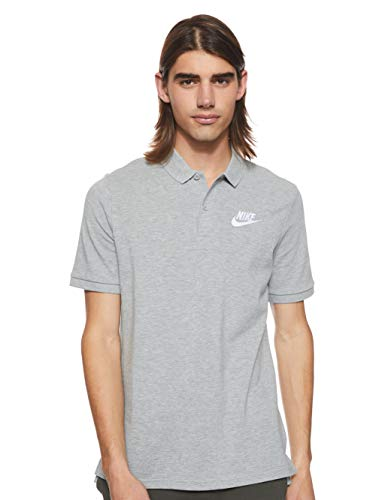 Nike Polo Matchup Homme, Gris(dark grey heather/White), FR : M (Taille Fabricant : M)