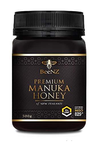 Manuka Gold Manuka Honig BeeNZ MGO 829+ UMF20+ 500g pur, original aus Neuseeland, zertifizierter Methylglyoxal Gehalt
