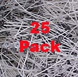 25 Pcs, Heinz Cd-18 Self Trimming Cotton Paper Braided 6' Wicks for Paraffin & Soy Candles