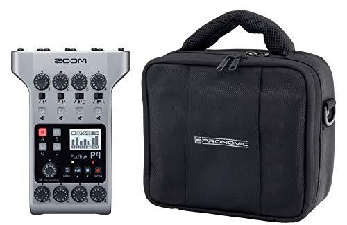 Zoom PodTrak P4 Podcasting Recoder Set (mobiele Podcasting Recoder incl. tas)