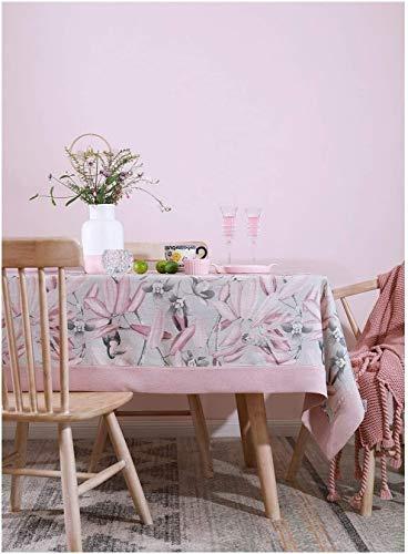 Tafelkleed van stof voor thee, stofdicht, eenvoudig bedrukt, tafelkleed in Europese stijl (afmetingen: 140 x 200 cm), afmetingen: 130 x 130 cm, eenvoudig en modern tafelkleed.