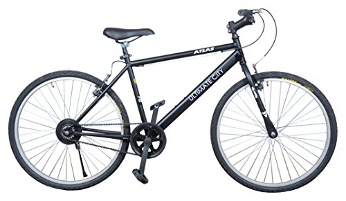 Atlas Unisex Steel Ultimate City Mountain Bike for Cycling (Frame:18...