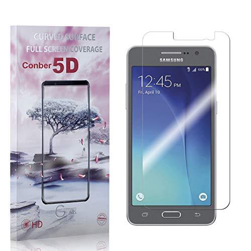 Conber [3 Pièces] Verre Trempé pour Samsung Galaxy Grand Prime, [9H Dureté][Haut Définition][sans Bulles] Ultra-résistant Film de Protection écran pour Samsung Galaxy Grand Prime