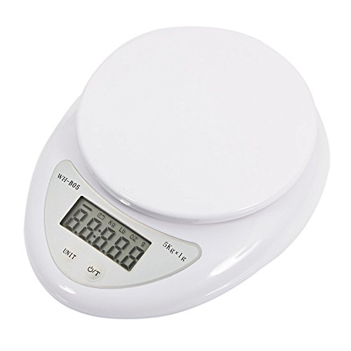 Digital Kitchen Scales,5kg/1g Food Weighing Scales with LCD Display,Electronic Cooking Scales with Power Off Automatically for Ingredients,Fruit,Coffee,Tea Leaves