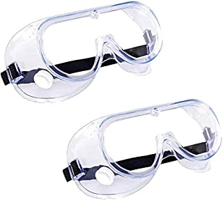 2 Pack Safety Goggles, Protective Safety Glasses, Soft Crystal Clear Eye Protection - Perfect for Construction, Shooting, Lab Work, and More