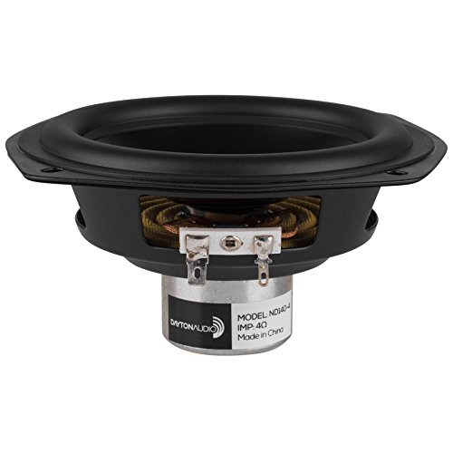"Dayton Audio ND140-4 5-1/4"" Aluminum Cone Midbass Neo Driver 4 Ohm"