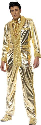 Smiffys, Herren Elvis Kostüm, Jacke, Hemdeneinsatz und Hose, Größe: L, 29394