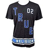 True Religion Men's Jeans True Defense Logo Graphic Tee Crew Short Sleeve T-Shirt (XL)
