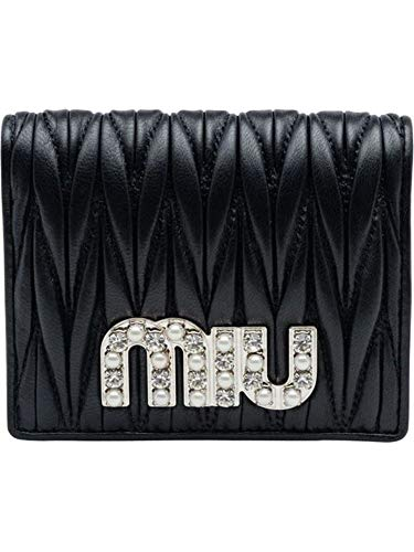 Miu Miu Luxury Fashion Damen 5MV2042BSQF0002 Schwarz Leder Brieftaschen | Jahreszeit Permanent