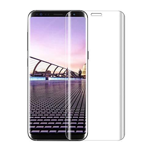 For Galaxy S9 ガラスフィルム ギャラクシー S9 au SCV38 docomo SC-02K フィルム 専用 強化ガラスフィルム 3D曲面 改良型 干渉しない 貼り付け簡単 気泡ゼロ 旭硝子 硬度9H 透過率98%