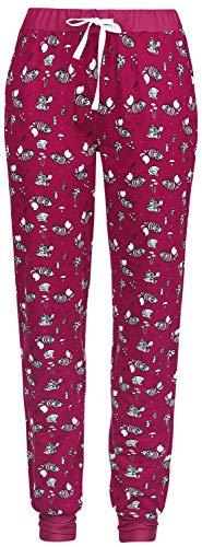 Alice im Wunderland Time After Time Frauen Pyjama-Hose pink/weiß S