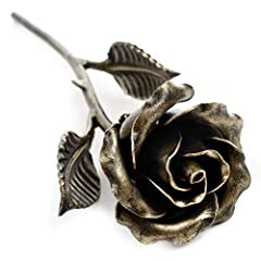 What is a better way to express your love to that special someone? Give a handcrafted steel rose covered with bronze patina. This piece of art will never wilt or die. One of a kind, each eternal rose is unique, because it is hand made one at a time, ...