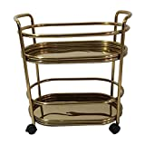 ZXCVBNM Utility Cart, Gold Bar Cart Very Suitable for Home, Living Room Home bar carts Kitchen cart with Storage (Color : Gold)