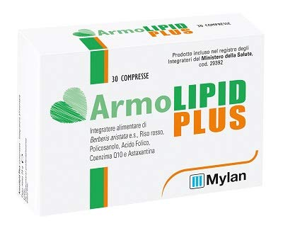 Mylan Italia Armolipid Plus Integratore Alimentare Con Riso Rosso, Policosanolo - 30 Gr