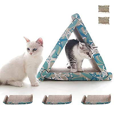 Amazon - 15% Off on Cat Scratcher Cardboard 3 Packs Triangle Corrugated Scratch Pad Double