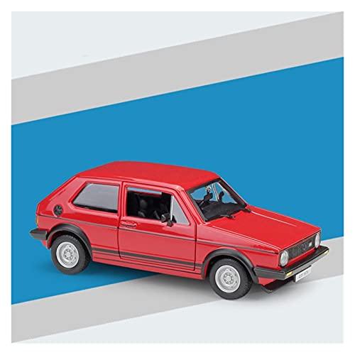SRJCWB Modellino Auto in pressofusione Modello di Auto di Marca Scala 1:24 per VW 1979 Golf Mk1 GTI Veicolo in Lega Diecast Cars Model Toy Collection Gift (Colore : Rosso)