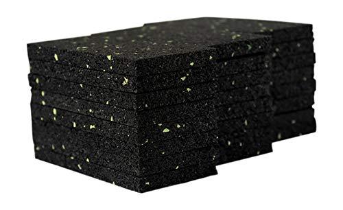 24 Stück 8 mm 50 x 100 mmTerrassenpad, Terrassenpads aus Gummi – Unterlagepads für die Unterkonstruktion ihrer Terrassen Balkon oder Gartenhütte