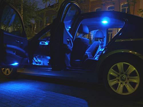 13x bombillas LED iluminación interior JUEGO lámparas de vehículo luz de habitáculo AZUL de Pro!Carpentis compatible con Alhambra 7V_ hasta 03/2010