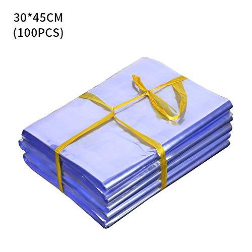 Souarts Shrink Wrap Taschen Transparente Schrumpffolien Schrumpffolie Heißsiegel PVC Folie Heißsiegelbeutel Verpackungsfolie für DIY Handwerk 100 Stücke