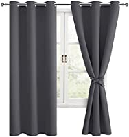 Hiasan Blackout Curtains for Bedroom, Thermal Insulated & Energy Saving Window Curtains for Living Room, Set of 2 Drape...