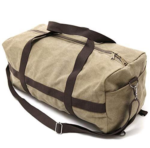 Large Quality Gym Bag Duffle Bag Sports Bag Overnight Travel Holdall Bag Weekend Travel Bag Cabin Carry On Luggage - Gray And Khaki 60x28x28cm / Khaki