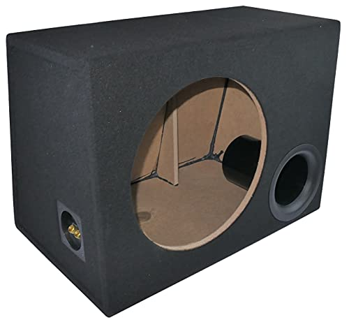 AERZETIX - C52235 - Caja de Altavoz vacía Bass Reflex 300mm 40l MDF Subwoofer Universal - Montaje en Superficie - Tela Negra