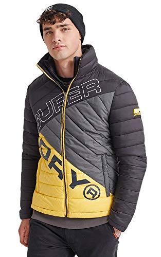Superdry Men's Incline Quilt Fuji Jacket, Black, X-Large