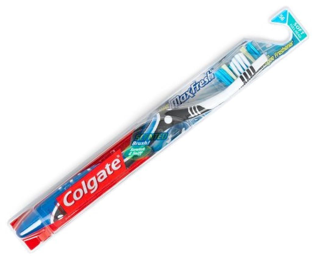 アラバマハウジンググリーンランドColgate マックス新鮮な柔らかい歯ブラシ2PK、1カラット