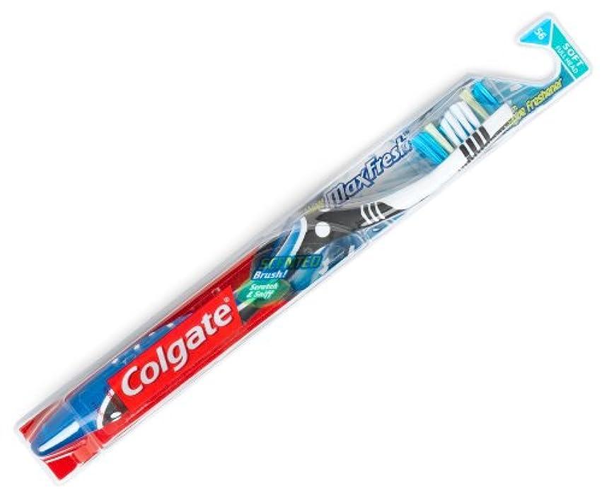 ひいきにする抑圧する香りColgate マックス新鮮な柔らかい歯ブラシ2PK、1カラット