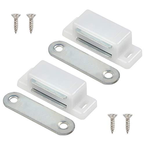 Magnetschnäpper extra stark Haltekraft 2er Set in weiß Magnetverschluss Magnetschloss Türmagnet Möbelmagnet Magnet Schranktür Magnet-Türschließer Balkontürschnapper