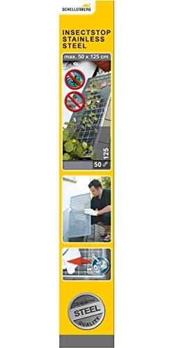 Schellenberg 50356 Sauberer Lichtschacht Schutz-Gewebe aus Edelstahl (50x125 cm), trittfest und witterungsbeständig