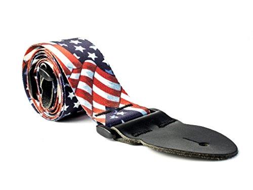 LeatherGraft Amerikaanse sterren en strepen bedrukte vlag land nationaal ontwerp gitaar riem