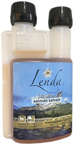 LENDA Aceite Natural de salmón Salvaje líquido Omega 3, EPA y DHA para Perros y Gatos - 250 ml