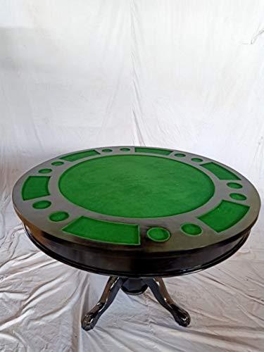 Kunibert Pokerspieltisch - Spieltisch Poker/Esstisch Alles in einem Tisch,mit drehbarer Tischplatte Holz Breite120cm